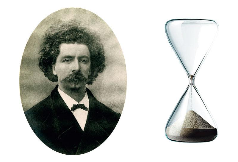 創業者クリスチャン・リュフリ=フルーリー砂時計